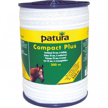 Patura compact plus lint 20mm wit 200m of 400m rol