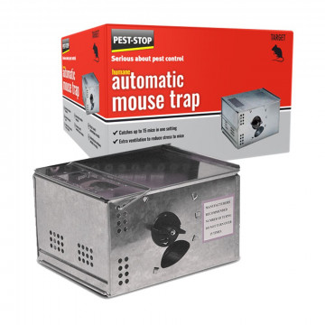 Pest-Stop Automatic Metal Mouse trap, Muizenval metaal