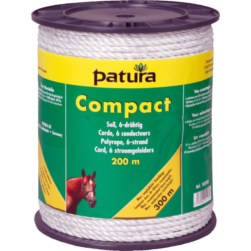 Patura compact cord wit, 200m rol