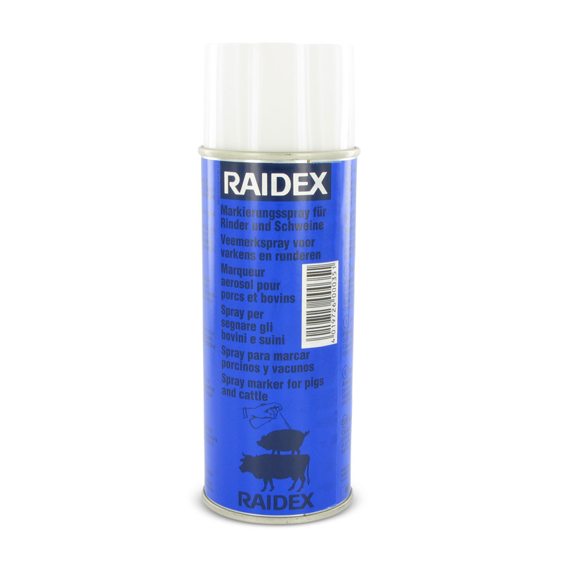 Merkspray Raidex rundvee/varkens 400ml Div. kleuren ...