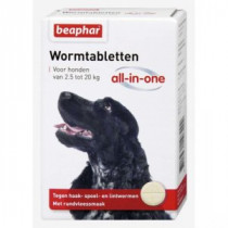 Beaphar Wormtabletten All-in-One diverse verpakkingen