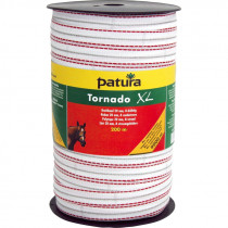 Patura tornado xl lint 20mm wit/rood 200m of 400m