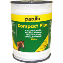 Patura compact plus lint 40mm wit, 200m rol