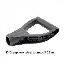 D-Greep voor steel Ø 28 mm