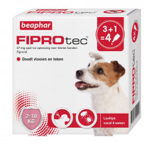 Fiprotec Spot-On hond 3+1 pipetten